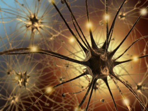 Very high resolution 3d rendering representing the connection between neurons.
